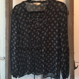 Hollister top size small black semi sheer